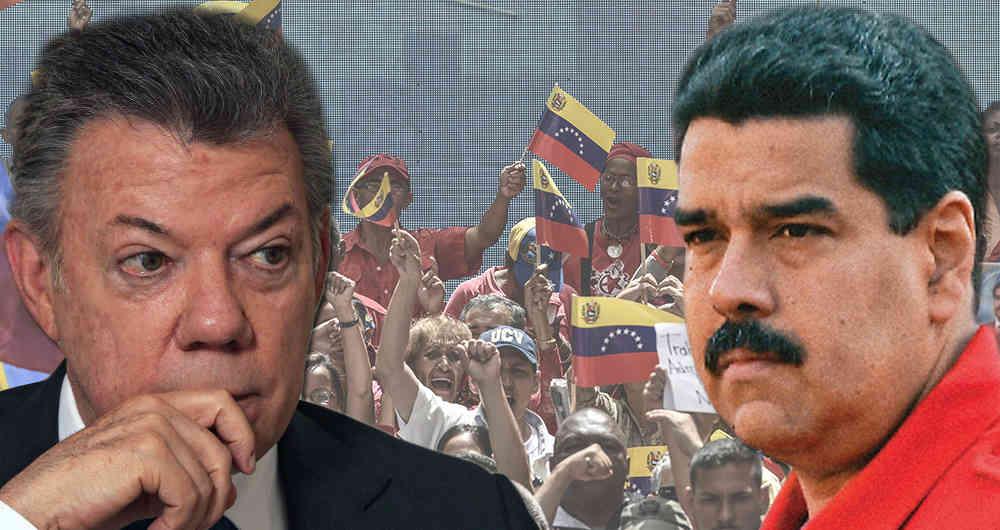 Santos dice tener cosas más importantes que conspirar contra Maduro