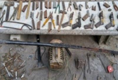 Desmantelan fábrica clandestina armas fabricación casera en Navarrete