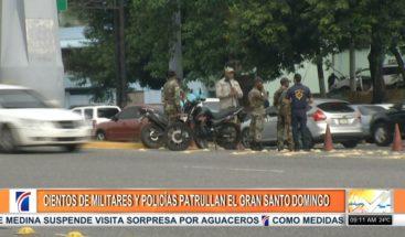 Patrullaje en avenidas SD por amenaza de paro tras alza de combustibles