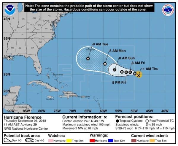 La tormenta tropical Florence puede convertirse de nuevo en huracán