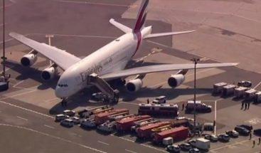 Un avión es puesto en cuarentena en el aeropuerto JFK de Nueva York