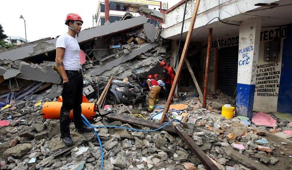 Más de 800 afectados deja sismo de 6,2 el pasado jueves en Ecuador