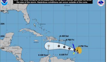 Ojo de Kirk amenaza las Antillas Menores con riesgo de inundaciones