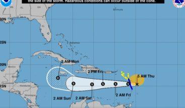Isaac continúa como tormenta tropical; dejará lluvias el fin de semana