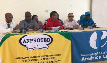 Anproted dice que realizarán movilizaciones frente al Minerd