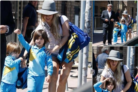 Shakira es criticada por recoger a sus hijos en el colegio con poca ropa