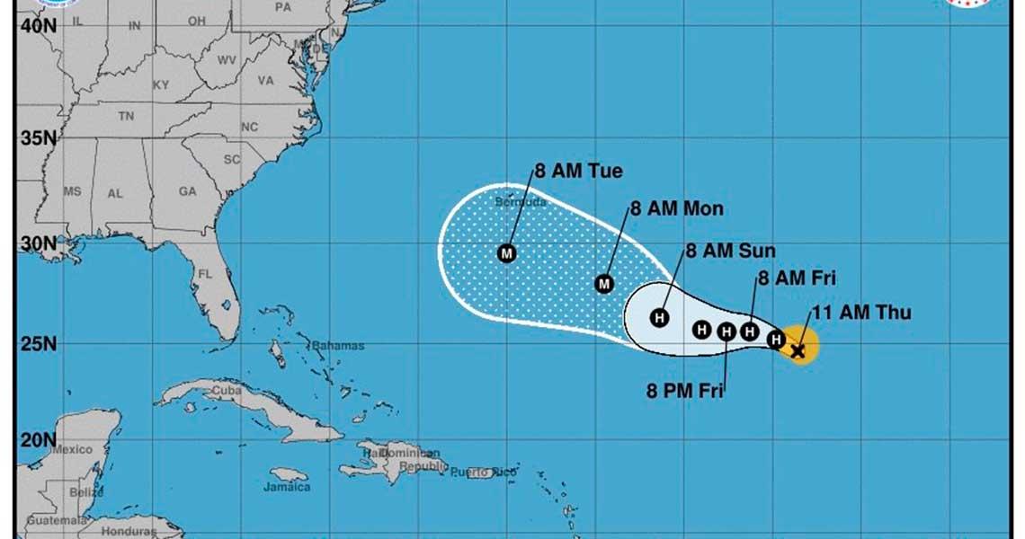 Tormentas Florence, Isaac y Helene avanzan por las aguas del Atlántico