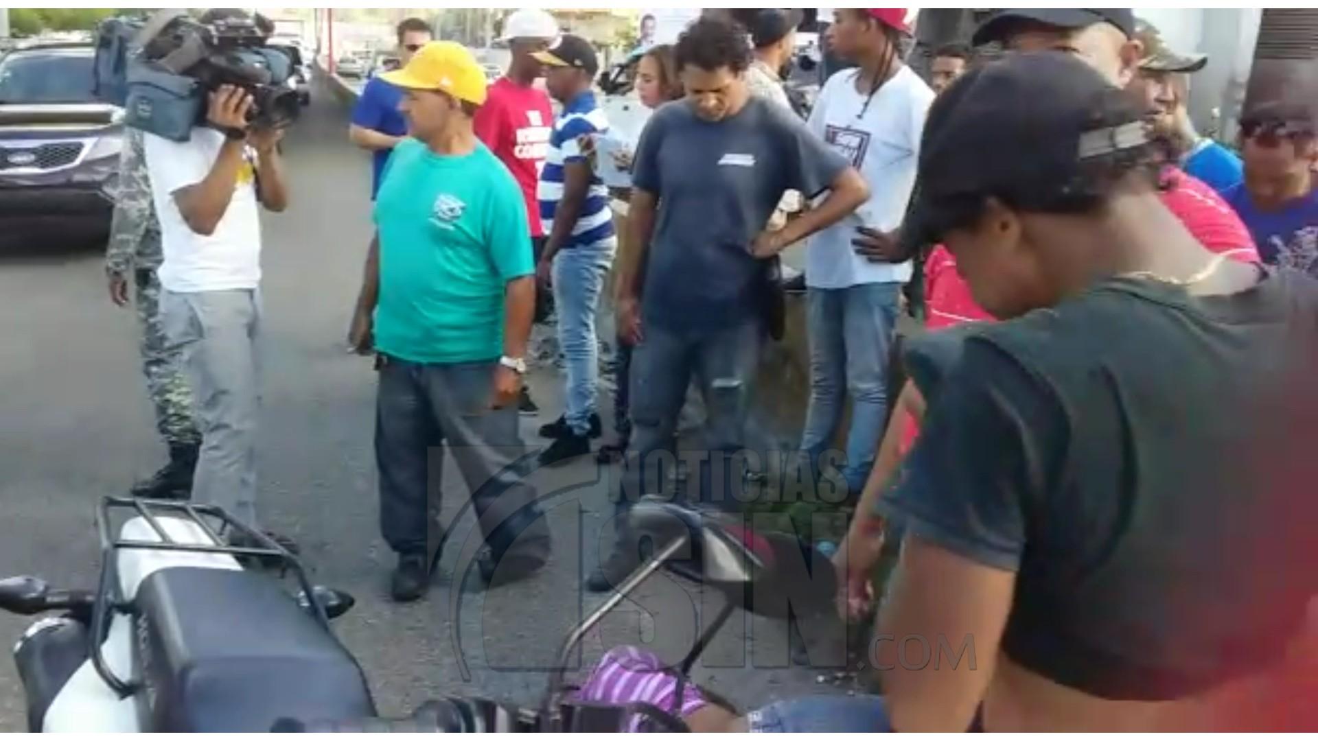 Motorista atropella mujer cuando intentaba cruzar avenida Máximo Gómez