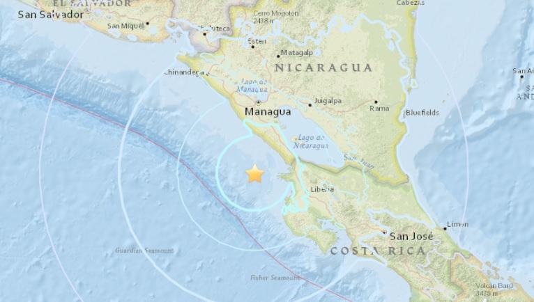 Sismo de magnitud 4,3 sacude Pacífico de Nicaragua sin víctimas ni daños