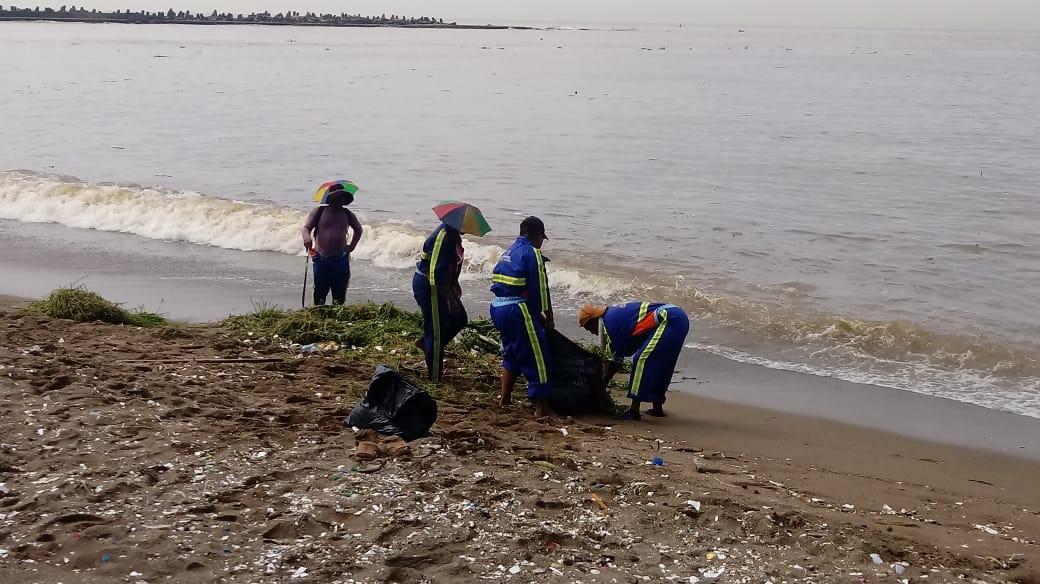 Brigadas de la Alcaldía DN intervienen playas para retirar basura