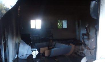 Desaprensivos incendiaron Funeraria Municipal de La Zurza