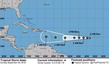 Onamet da seguimiento a tres tormentas tropicales