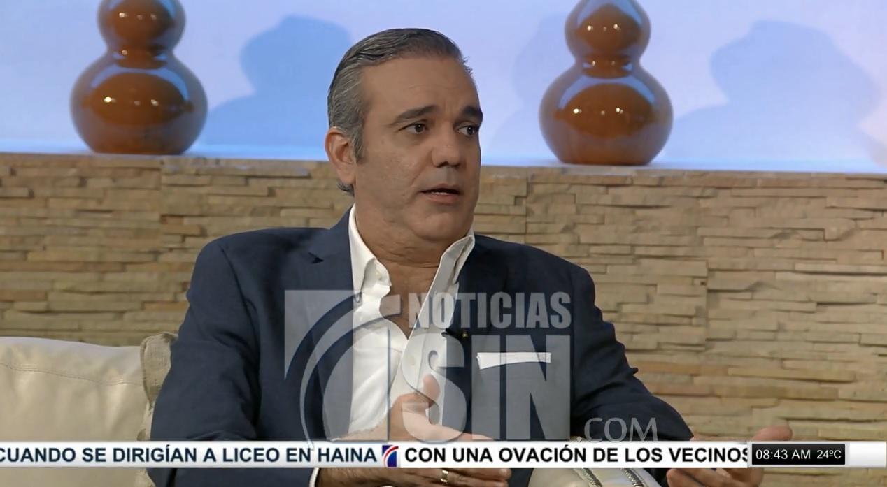 "Abinader dice reelección de Medina sería un ""golpe constitucional"""