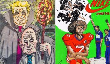 Jim Carrey expondrá en Los Ángeles sus dibujos y caricaturas de Trump