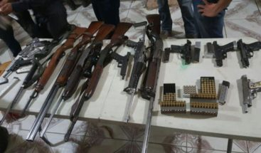 Decomisan 16 armas de fuego y artículos prohibidos en lo que va de año