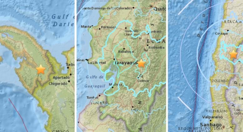 Cadena de fuertes sismos sacude Ecuador, Perú, Chile y Panamá