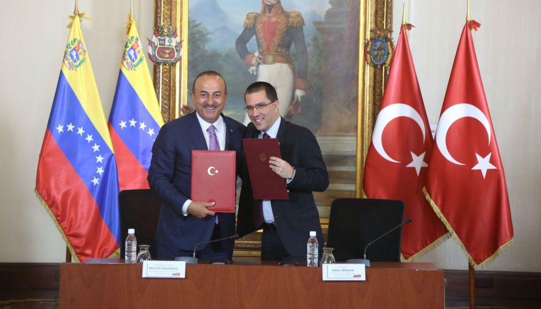 Canciller turco destaca apoyo a Venezuela y rechaza medidas aislamiento