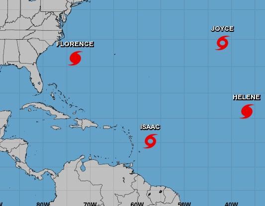 Florence se mantiene como categoría 3 en su avance hacia a EEUU