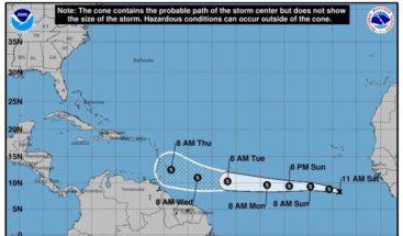 Depresión tropical Kirk no representa peligro para el país