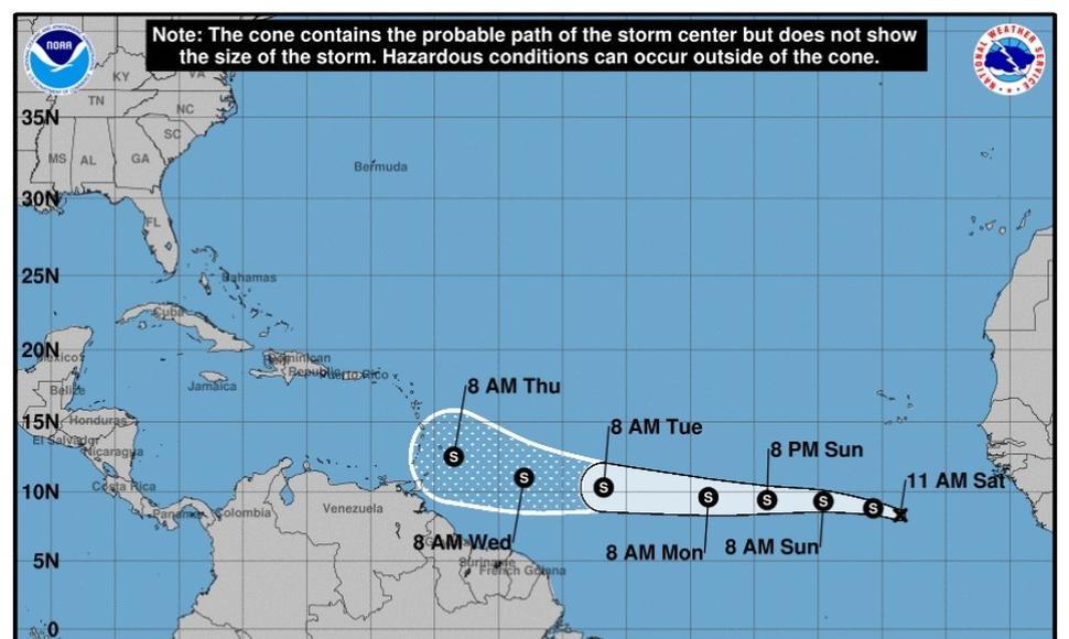 Onamet dice mantiene vigilada la depresión tropical Kirk