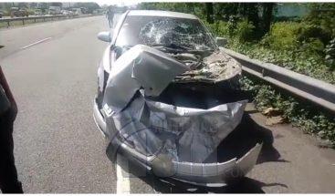 Accidente múltiple en tramo de autopista Duarte afecta tránsito