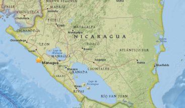 Un sismo de magnitud 5,3 sacude Nicaragua