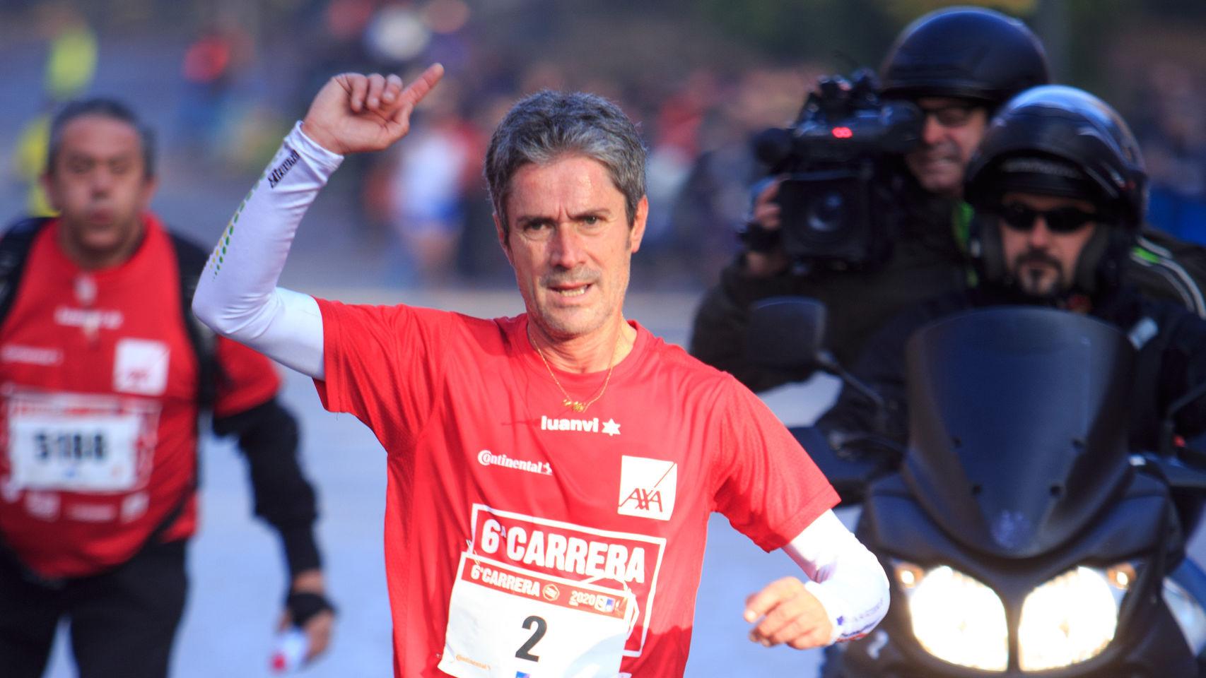 Atropellan al  maratoniano español Martín Fiz
