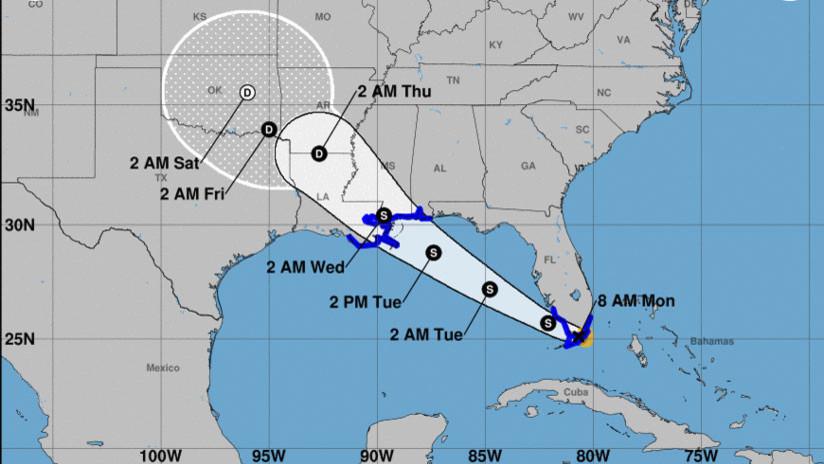 La tormenta tropical Gordon se forma a pocos kilómetros de Florida