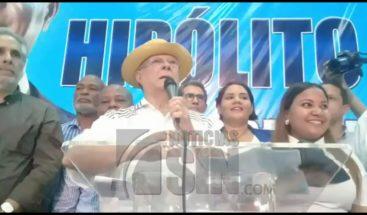 Ex presidente Hipolito Mejía asegura luchará contra la impunidad