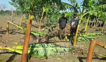 Ventarrón causa estragos en comunidad de Dajabón