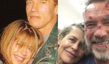 Golpe de nostalgia provoca foto de Schwarzenegger junto a Linda Hamilton