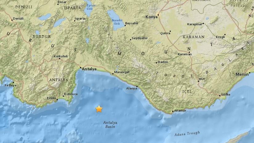 Un sismo de magnitud 5,2 se registra frente a las costas de Turquía