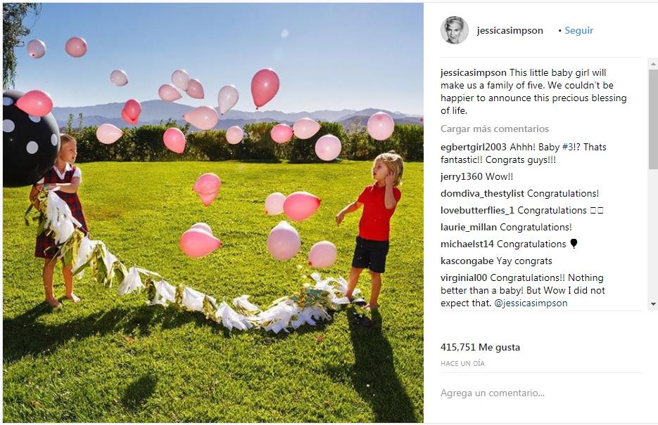 Jessica Simpson está a la espera de su tercer hijo