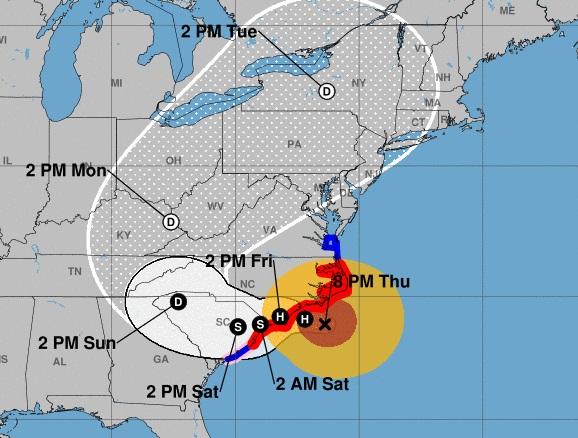 Florence ya se hace sentir en Carolina del Norte con vientos huracanados