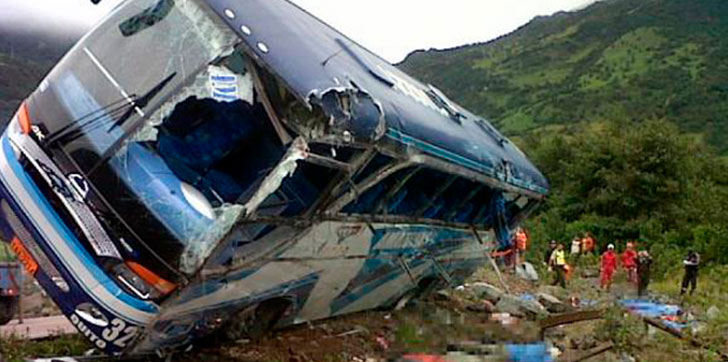 Al menos 9 muertos y veinte heridos en accidente de tráfico en Ecuador