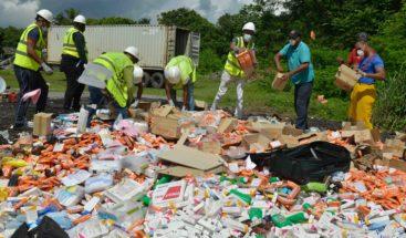 Aduanas incinera miles de medicamentos no aptos para consumo