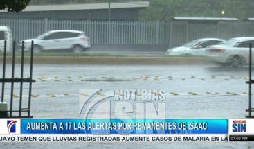 COE mantiene 17 provincias bajo alerta por las lluvias
