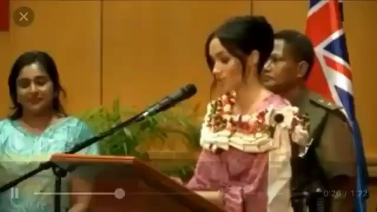 Meghan Markle destaca en Fiyi importancia de la educación de las mujeres