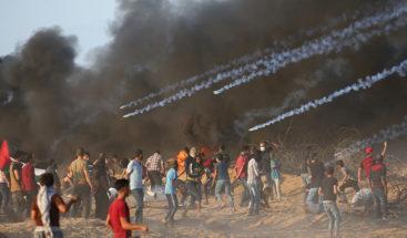 Fuerzas isralíes matan 6 palestinos y hieren más de 140 durante protesta