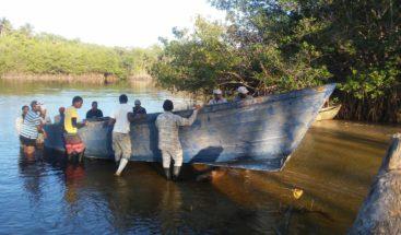 Apresan nueve personas a bordo de una embarcación ilegal en Miches