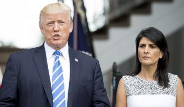 Trump confirma que Nikki Haley abandonará la ONU a finales de año