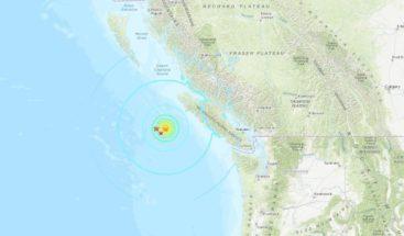Tres fuertes sismos sacuden la costa oeste de Canadá