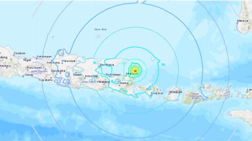 Sismo de magnitud 6,0 sacude la isla de Java en Indonesia