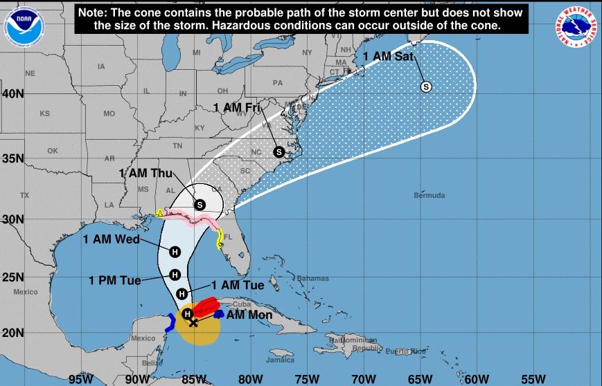 Depresión se convierte en tormenta tropical Michael en camino a Florida