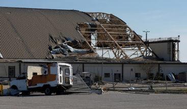 Huracán Michael azota una base aérea en EE.UU.