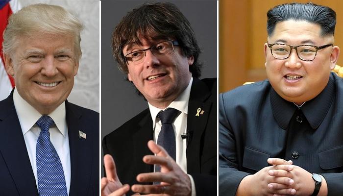 Puigdemont, Trump y Kim Jong-un, posibles candidatos Premio Nobel de Paz