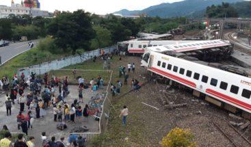 Al menos 22 muertos y 171 heridos en accidente de tren en Taiwán