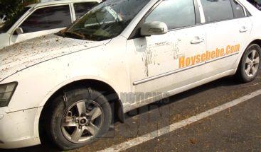 Choferes protestan por acción cometida contra sus vehículos incautados