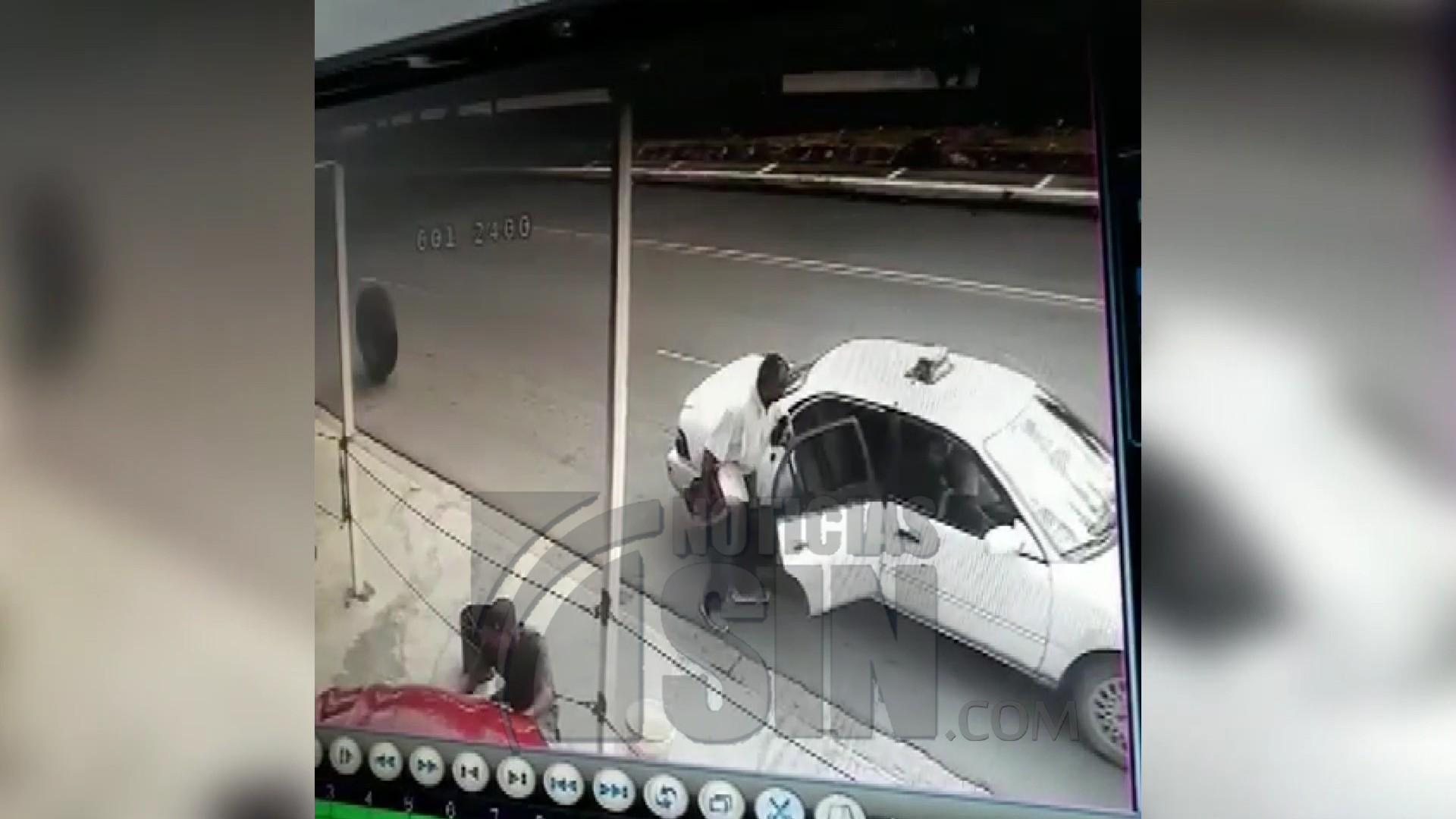 Buscan conductor de patana  impactó hombre con neumatico desprendido