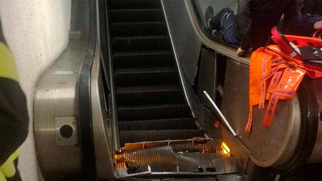 Veinte heridos en Roma tras caerse una escalera mecánica en el metro